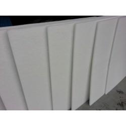 wit polyesterwol 2 cm