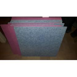 60x60 cm Akoestische paneel Fuchsia roze
