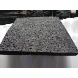 Akoeschuim Zwart 50x50x4 cm